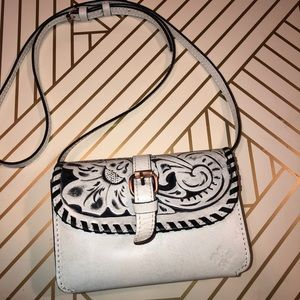 Patricia Nash Torri  tooled leather crossbody EUC